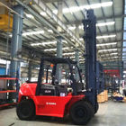 V Shape Counterweight 5 Ton Diesel Forklift XinChai 490BPG Long Service Time
